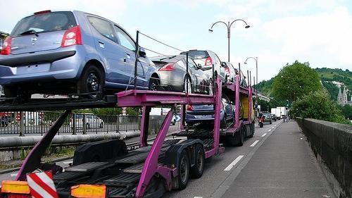transport d'automobiles neuves
