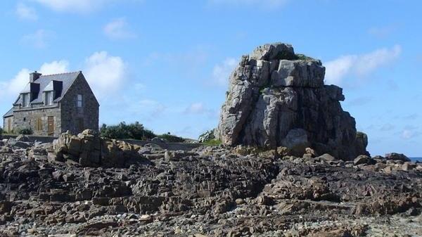 maison sur littoral breton