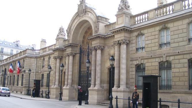 Entrée du Palais de l'Elysée
