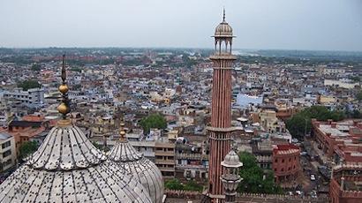 Vue de New Delhi (Inde)