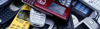 tas de téléphone