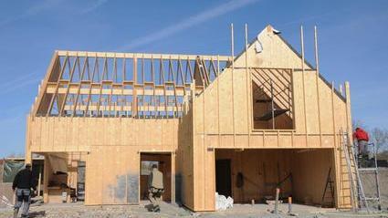Maison en chantier