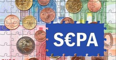 """Puzzle de billets avec une mention """"SEPA"""""""