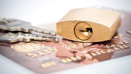 Verrou et carte bancaire