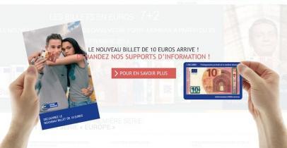 Nouveau billet de 10 euros - supports d'information
