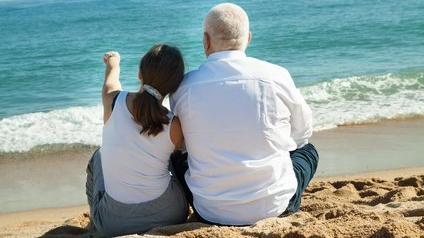 Seniors à la plage
