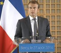 Emmanuel Macron le 27 août 2014