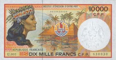 Billet de 10.000 francs pacifique