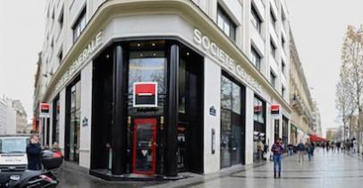 L'agence Champs-Elysées de la Société Générale