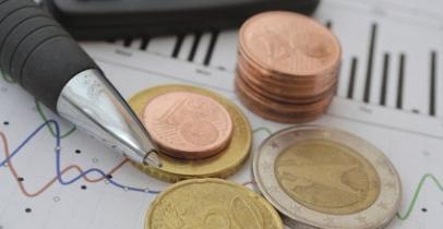 Courbes et pièces d'euro
