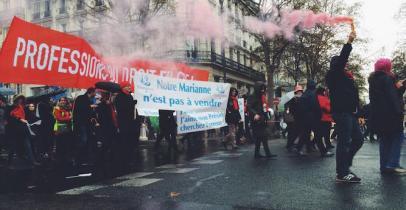 Manifestation des notaires - Paris, 10 décembre 2014