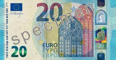 Billet de 20 euros, série Europe (2015)