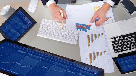 La bourse sur ordinateur