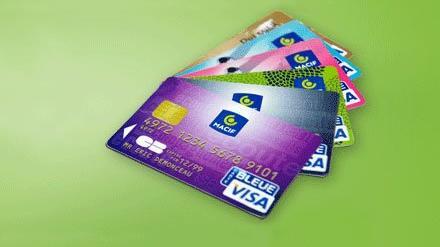 Cartes bancaires Bleu Anis Macif