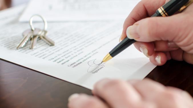 Signature d'une contrat