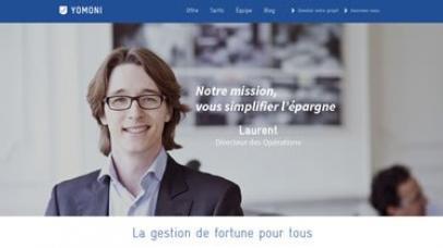 Copie d'écran de Yomoni.fr