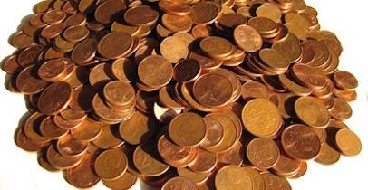 Tas de centimes d'euros