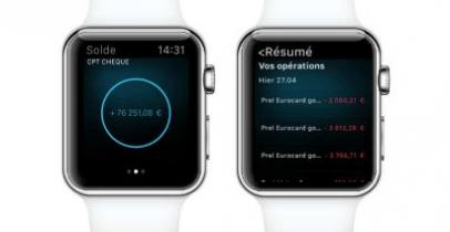 L'application Apple Watch du Crédit Agricole