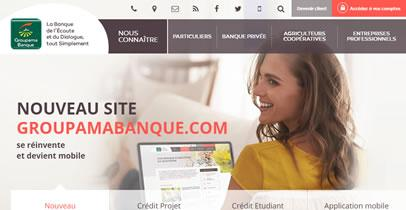 Photo d'écran du site groupamabanque.com