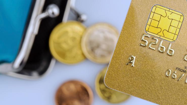 Carte bancaire et porte-monnaie