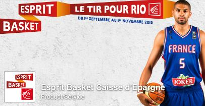 """Le compte Facebook """"Esprit Basket"""" de la Caisse d'Epargne"""