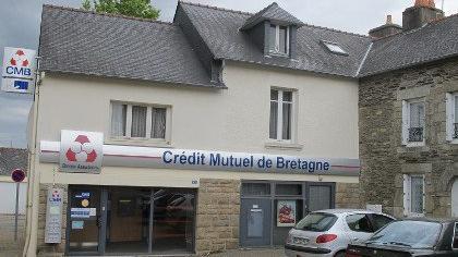 Une agence du Crédit Mutuel de Bretagne à Malansac en 2013
