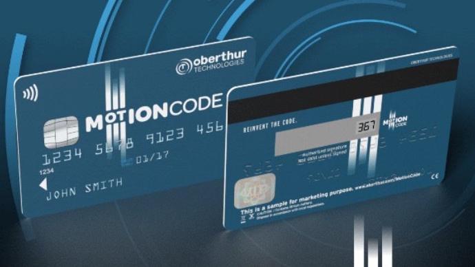 Carte bancaire Oberthur Motion Code