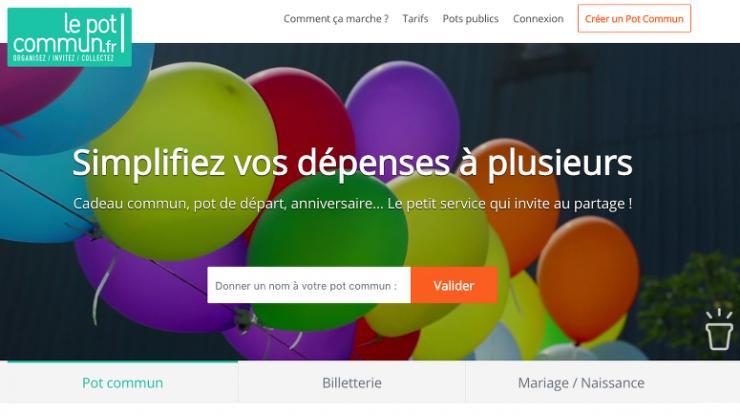 Capture d'écran lepotcommun.fr