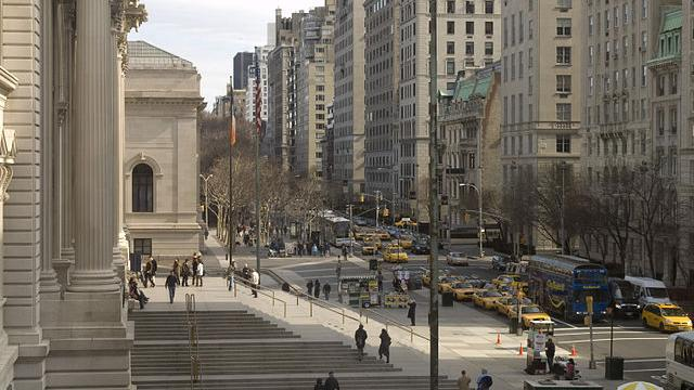Photo de la 5e Avenue prise depuis le Metropolitan Museum
