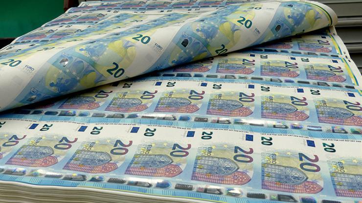 Production de billets de 20 euros