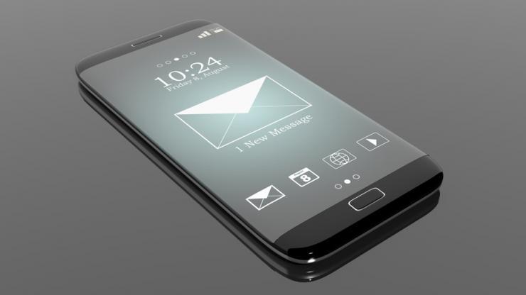 Notification sur smartphone noir