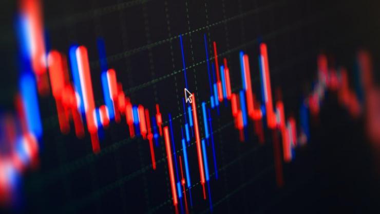 Un cours de bourse en baisse