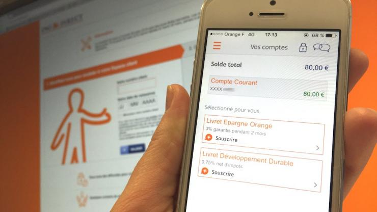 Application ING Direct sur smartphone et PC