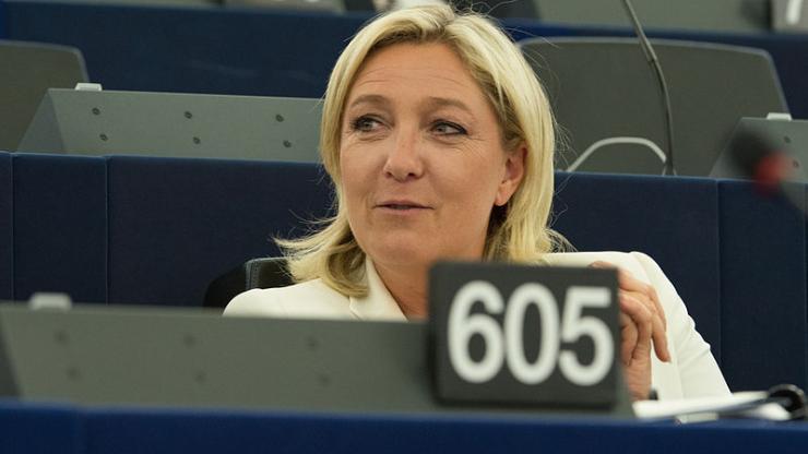 Marine Le Pen, le 1er juillet 2014, au Parlement européen