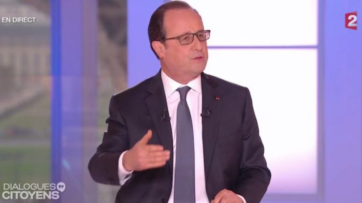 François Hollande sur France 2