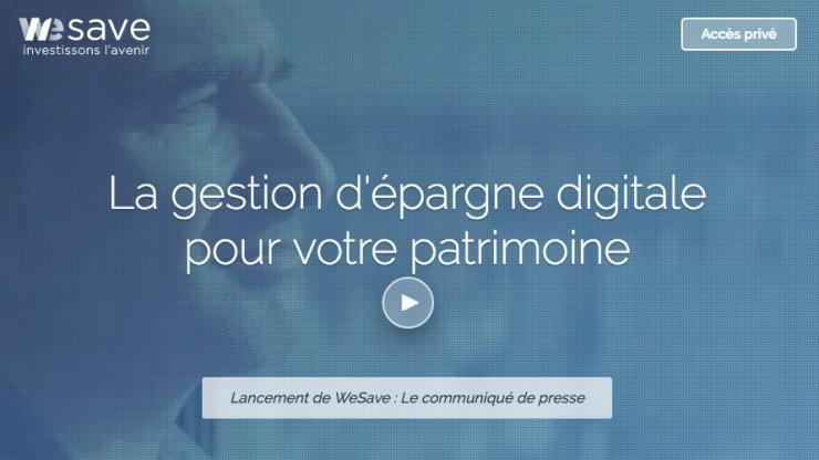 Page d'accueil du site WeSave