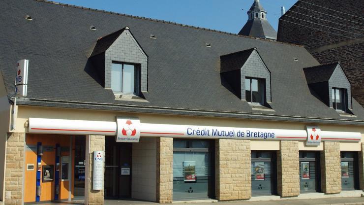 Une agence Crédit Mutuel à Janzé, en Bretagne, en 2016