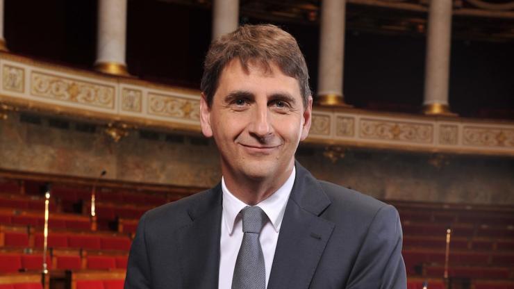 Daniel Goldberg dans l'hémicycle de l'Assemblée nationale