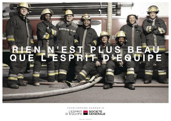 Affiche publicitaire de la Société Générale en 2012