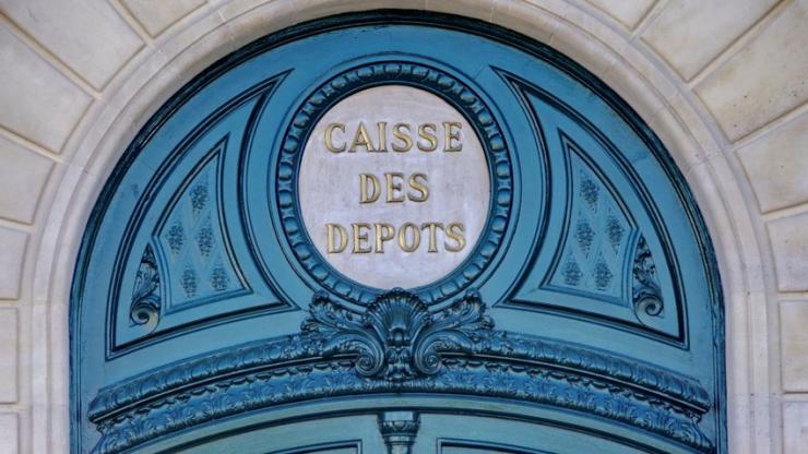 Entrée de la Caisse des dépôts à Paris