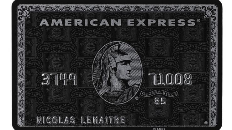 Carte Centurion d'American Express