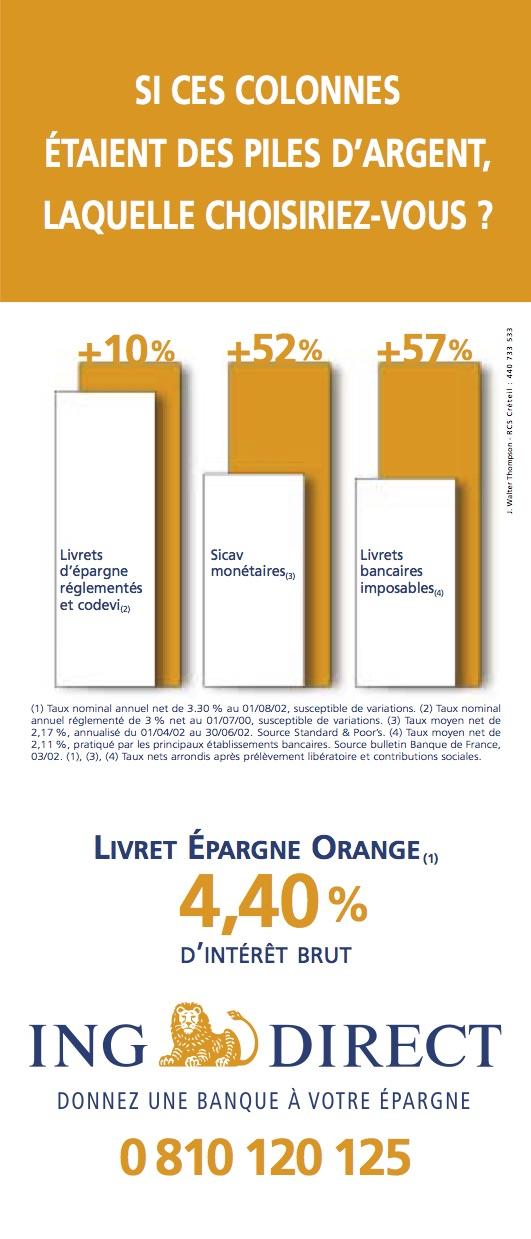 Publicité ING Direct septembre 2002