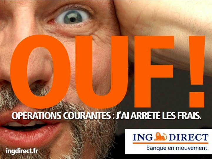 Affiche publicitaire ING Direct
