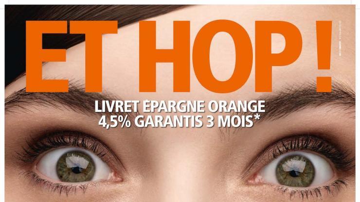 Affiche publicitaire ING Direct de 2011