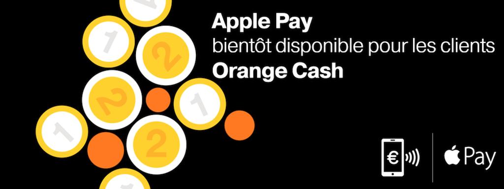 Annonce Apple Pay sur le site d'Orange Cash