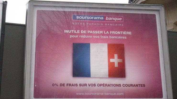 Une affiche Boursorama en 2007