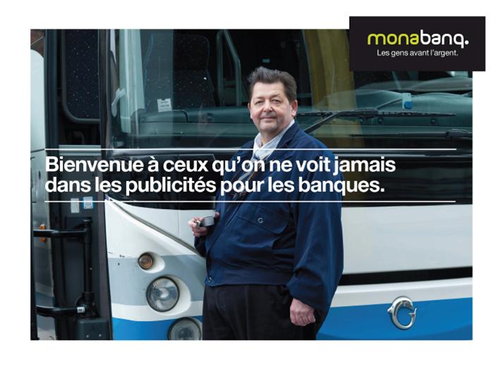 Publicité Monabanq - Les gens avant l'argent