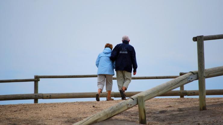 Des retraités en vacances