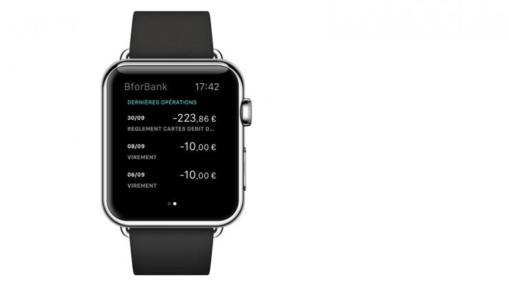 Application Apple Watch Bforbank