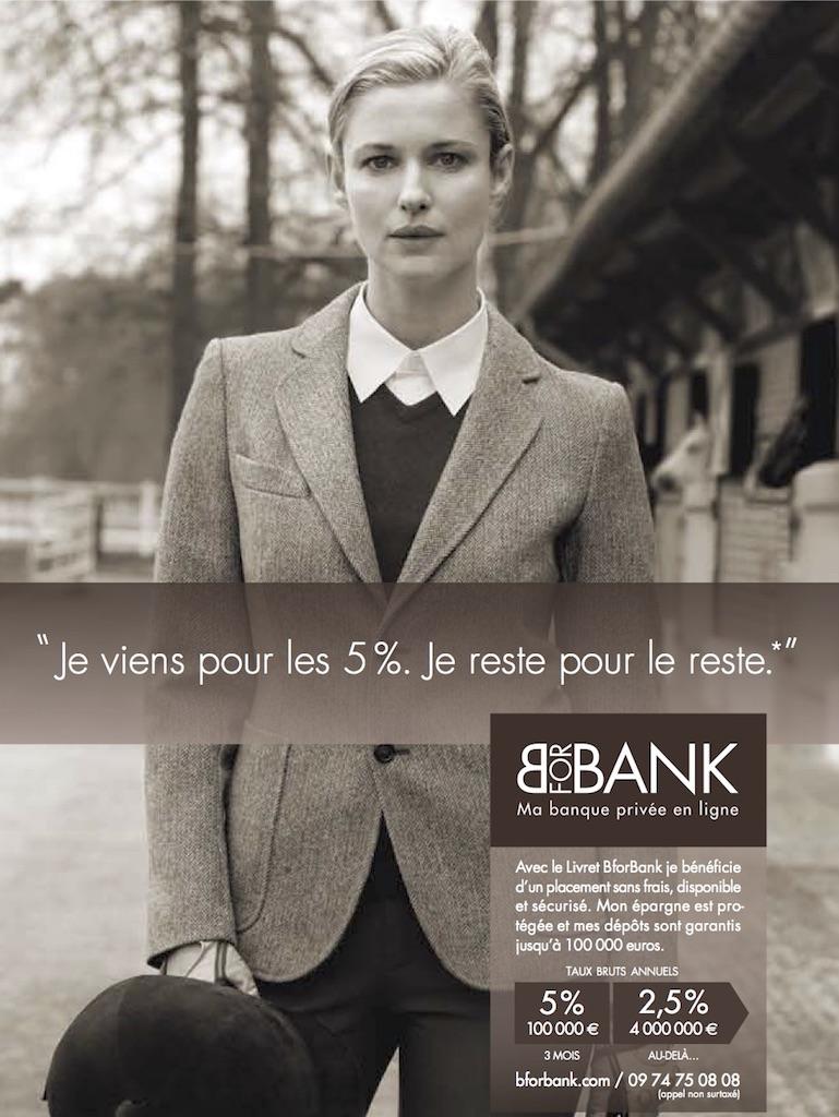 Affiche publicitaire BforBank 2011